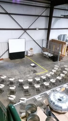 Warehouse Presentation Space - 42 People in one Seminar